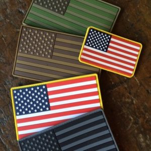 """Large 5""""x3"""" flags next to the regular 3.25"""" x 2"""" flags."""