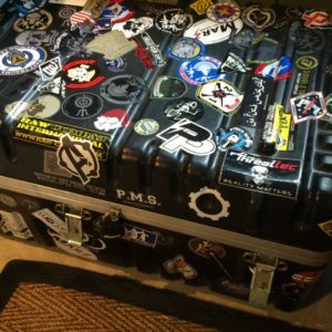 Our decal trunk.